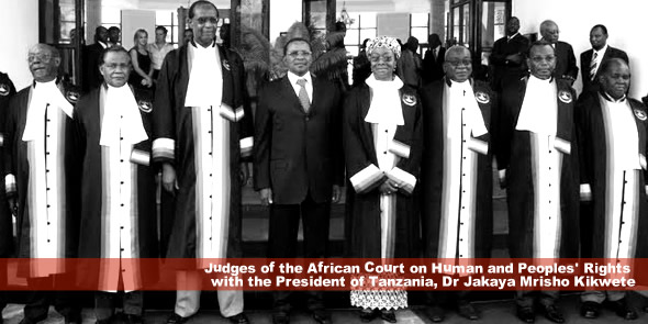 Judges of the African Court on Human and Peoples' Rights  with the President of Tanzania, Dr Jakaya Mrisho Kikwete