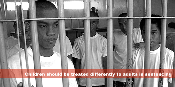 Children should be treated differently to adults in sentencing