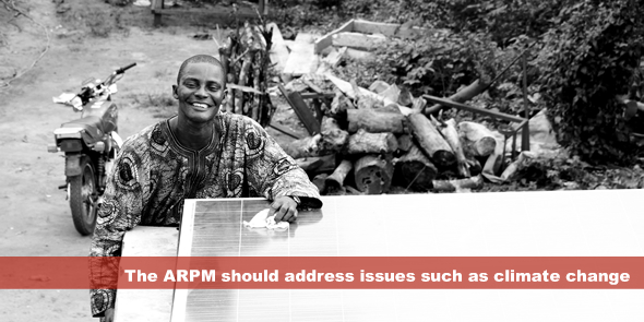 The ARPM should address issues such as climate change