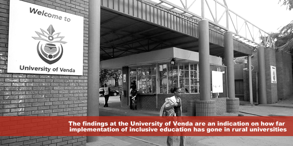 The findings at the University of Venda are an indication on how far implementation of inclusive education has gone in rural universities