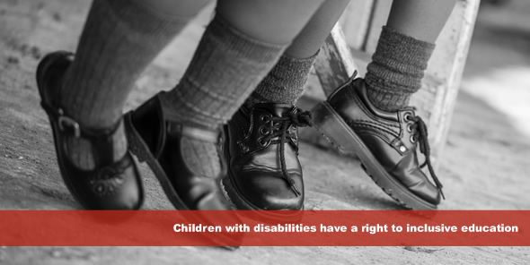 Children with disabilities have a right to inclusive education