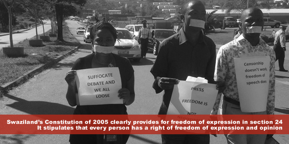 Swaziland's Constitution of 2005 clearly provides for freedom of expression in section 24 - It stipulates that every person has a right of freedom of expression and opinion