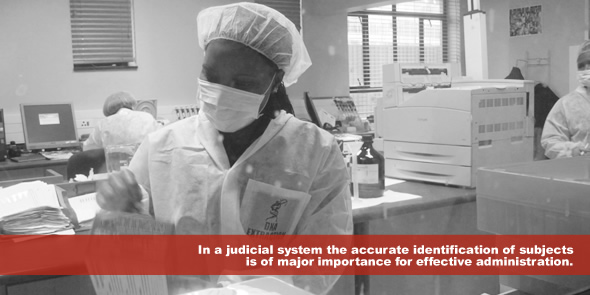 In a judicial system the accurate identification of subjects is of major importance for effective administration