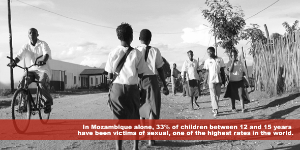 In Mozambique alone 33pc of children between 12 and 15 years have been victims of sexual one of the highest rates in the world