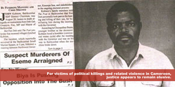 for victims of political killings and related violence justice appears to remain elusive