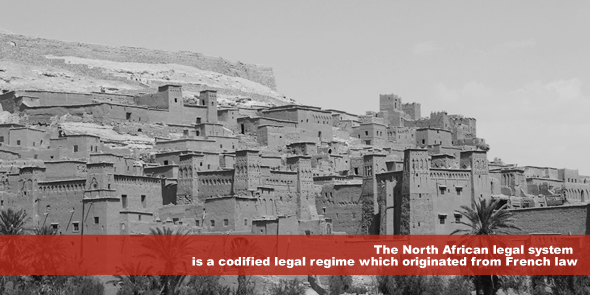 The North African legal system is a codified legal regime which originated from French law